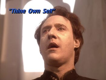 Thine Own Self title card