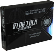 Eaglemoss USS Shenzhou dedication plaque box