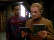 Jake Sisko and Odo, 2371