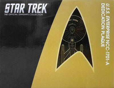 Raumschiffsammlung verpackte Widmungsplakette Enterprise (NCC-1701-A)
