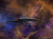 USS Voyager durchquert J-Klasse-Nebel