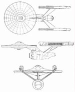 Constitution class Phase II orthographic schematics