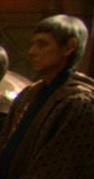 Gray haired Vulcan man at wedding
