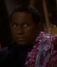 Bajoran civilian in Quarks bar 2369
