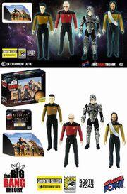 Bif Bang Pow! Star Trek TNG The Big Bang Theory action figure set