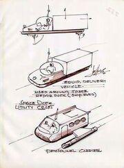 Class F shuttlecraft design origins by Matt Jefferies
