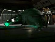 Romulanisches Schiff auf Deep Space 9