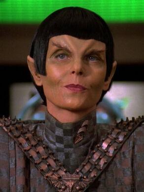 Toreth, a Romulan female in 2369