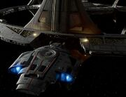 USS Defiant moored at Docking Bay 3
