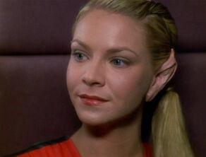 Irina, a Terrellian female (2377)