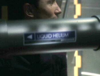 A liquid helium pipeline