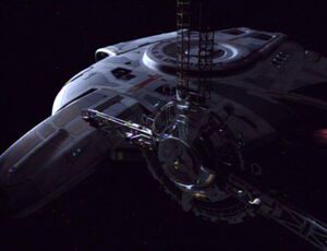 USS Defiant and wormhole relay station