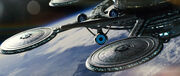 USS Enterprise departs Starbase 1, 2258