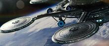 USS Enterprise departs Starbase 1, 2258