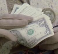 US 50 dollar bills