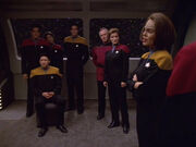Janeway's memorial service
