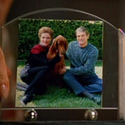 Janeway, her dog, Mark Johnson