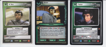 The three CCG cards released showing Stang
