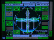 Space warp generator display