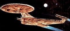 USS Enterprise, Planet of the Titans, fore