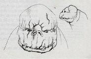 Megamouth alien, concept art