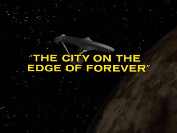 The City on the Edge of Forever title card
