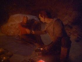 Dukat feeds Sisko