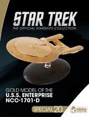 Eaglemoss Gold Model of the USS Enterprise-D box