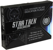 Eaglemoss USS Discovery dedication plaque box