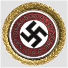Golden Nazi Party Pin