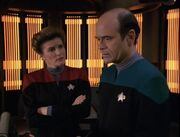 Janeway talks to The Doctor