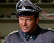 Kirk dressed in Nazi attire
