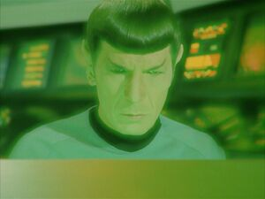 Spock and Kollos on the bridge