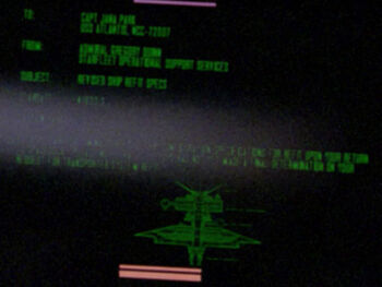 """Starfleet Command order received by the USS <i>Atlantis</i> in <a href=""""/wiki/2364"""" title=""""2364"""">2364</a>."""