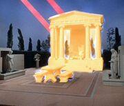 Apollo's temple under attack