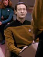 Hologramm von Data 2366 auf der Brücke