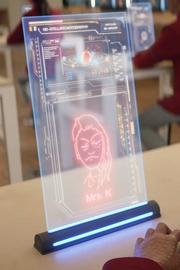Holographic desktop monitor