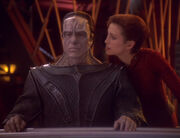 Kira and Damar in Quark's