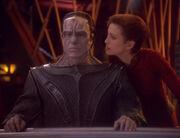 Kira and Damar in Quark's