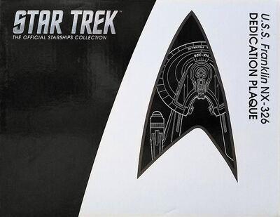 Raumschiffsammlung verpackte Widmungsplakette Franklin
