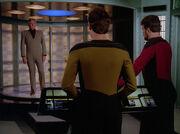 Kyle Riker beams aboard