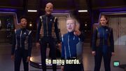 Star Trek Discovery primary cast thanking the ''Nerds''