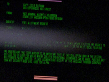 "Starfleet Command order received by the USS <i>Copernicus</i> in <a href=""/wiki/2364"" title=""2364"">2364</a>"