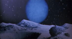 Painting of Neptune as seen from Triton.jpg