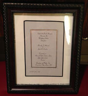 Wedding invitation - Picard album framed