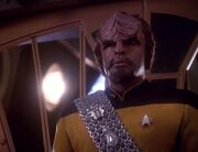 Worf aboard DS9