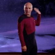 Beta Renner cloud talks through Picard