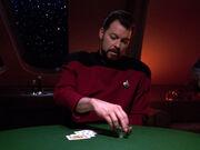 Riker setzt beim Pokern