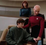 Wesley, Picard and Beverly Crusher, 2364