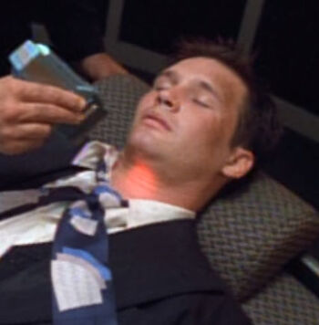 ... as a wounded Voyager crewman